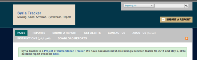 Syria Tracker Navigation Menu