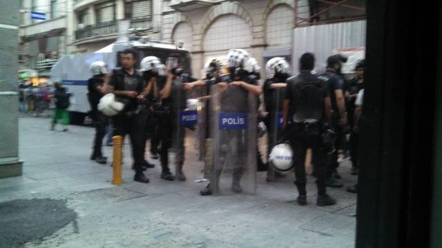 Istanbul Police outside of MAC