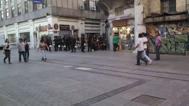 Bored cops waiting