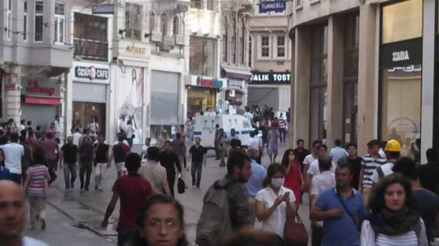 Up toward Taksim from Potatos