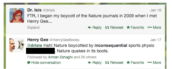 Nature Editor Tweets