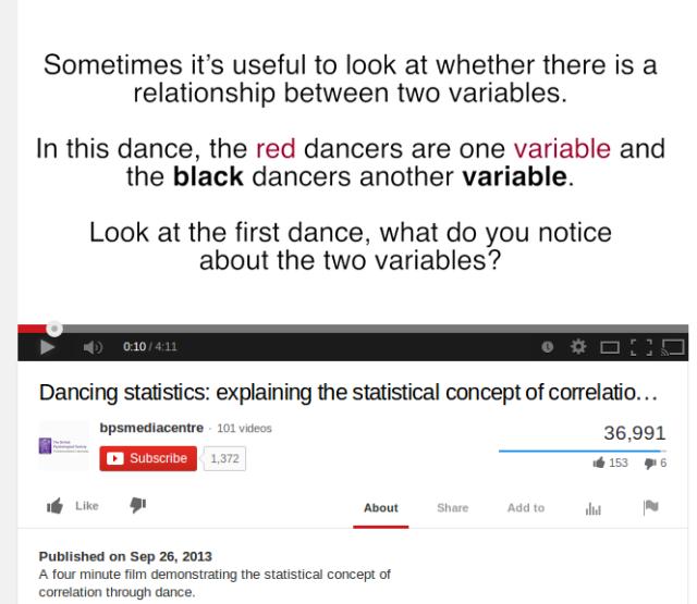 Dancing Statistics: Correlation