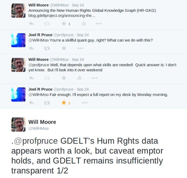 Moore & Pruce Twitter Exchange